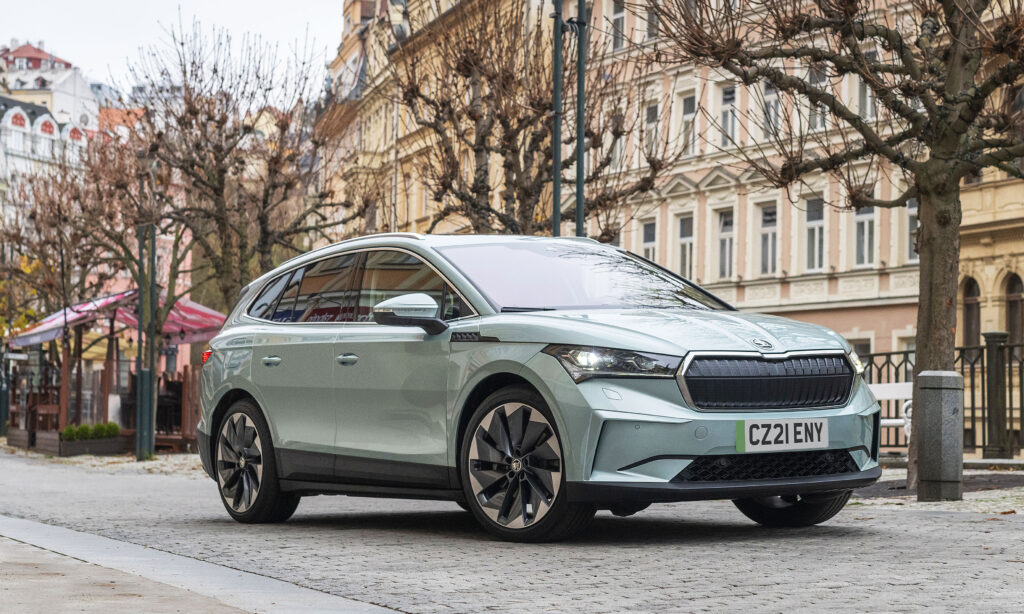 The new Skoda all-electric Enyaq iV will be available this week from £31,085 OTR