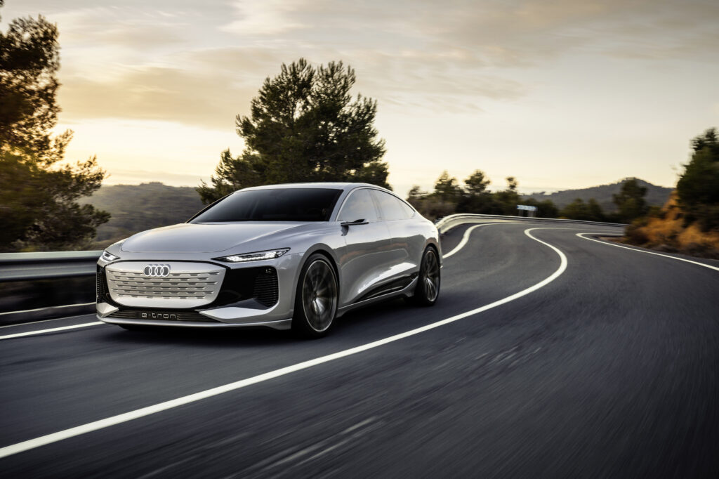 The stunning Audi A6 e-tron concept unveiled at Auto Shanghai 2021