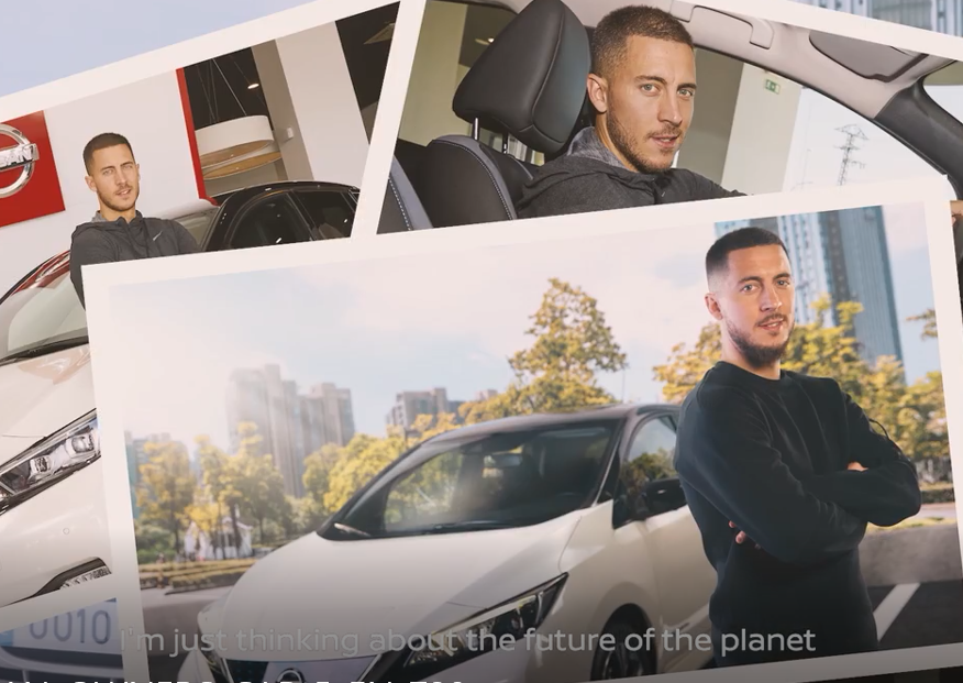 Real Madrid's Eden Hazard shares his Nissan LEAF experience