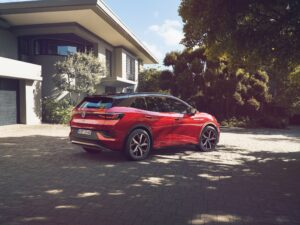 VW shows off its latest high performance ID.4 GTX electric model producing nearly 300 bhp