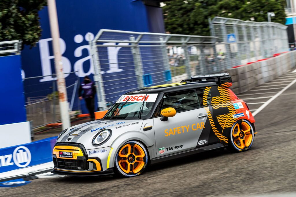 Striking New FIA Formula E Safety Car Released - MINI Electric Pacesetter inspired by JCW