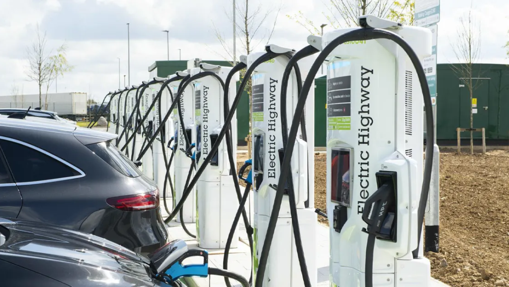 Electric Highways opens state-of-art charging facility at Rugby services capable of 100 miles battery charge in under five minutes