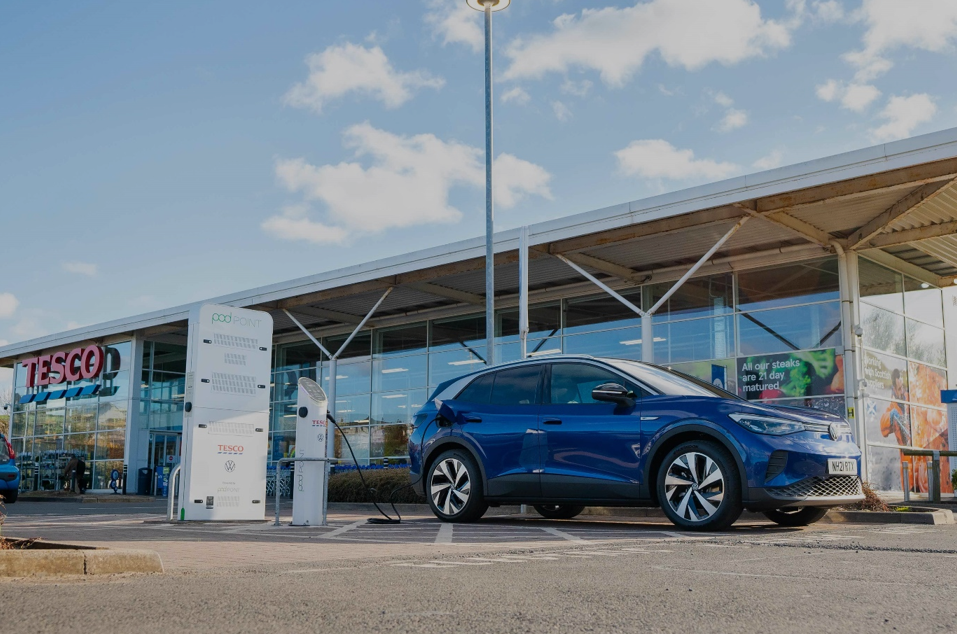 Half a million free charges delivered by Tesco in partnership with Volkswagen and Pod Point