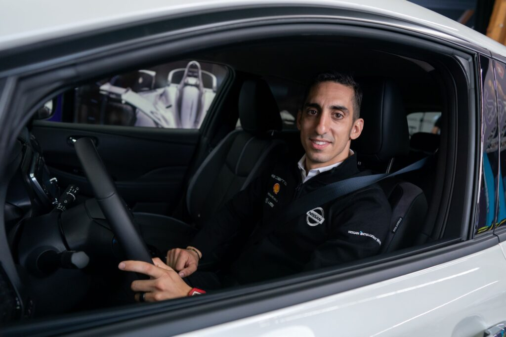 Nissan's Formula E driver Sébastien Buemi discusses life on and off the track with his Nissan LEAF