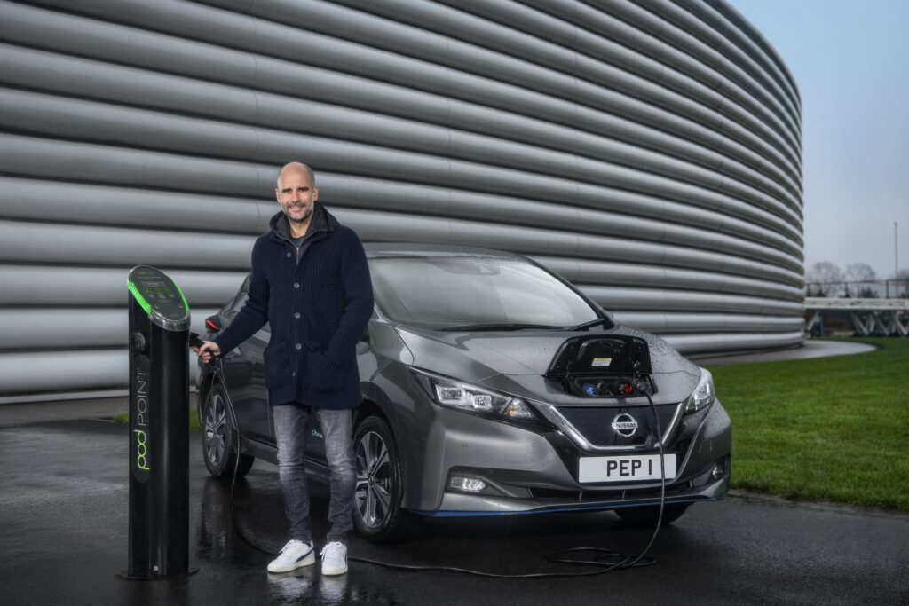 Manchester City F.C. manager Pep Guardiola reveals his admiration of electric cars