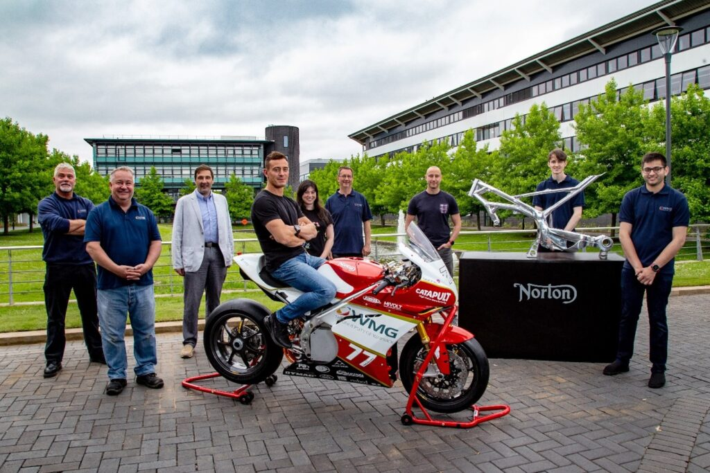 Norton Motorcycles supports student electric motorcycle research with the University of Warwick