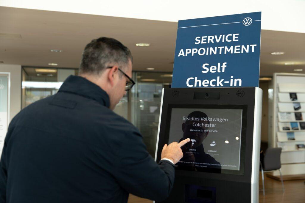 Volkswagen introduces airport-style digital check-in kiosks to boost convenience at UK dealers