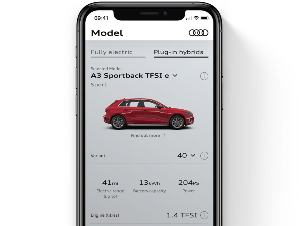 Audi launches an EV app to understand cost savings between a fossil fuel car and an EV and more!
