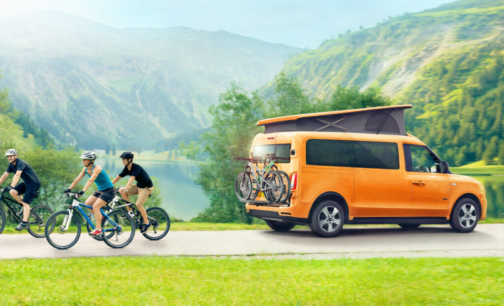 LEVC unveils world's first electric campervan