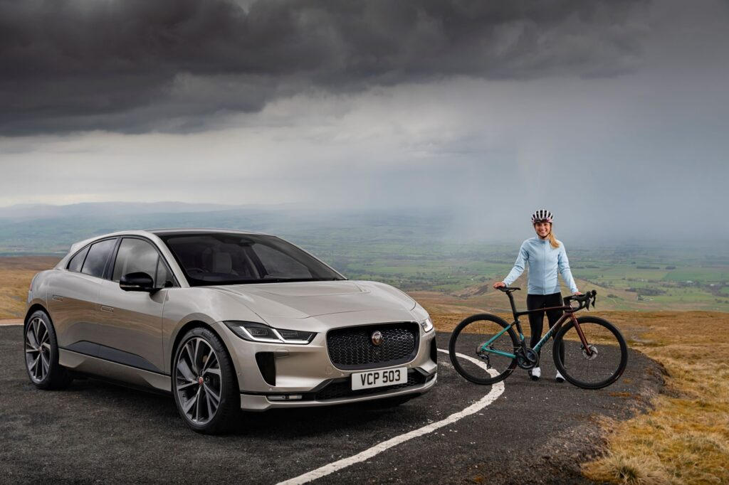 Jaguar I-PACE completes Everesting Challenge on a single charge with Olympic cycling ace at the wheel