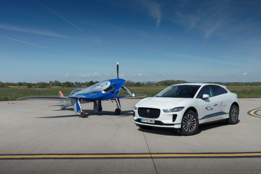 Jaguar I-PACE provides ground support for all-electric flight speed record bid