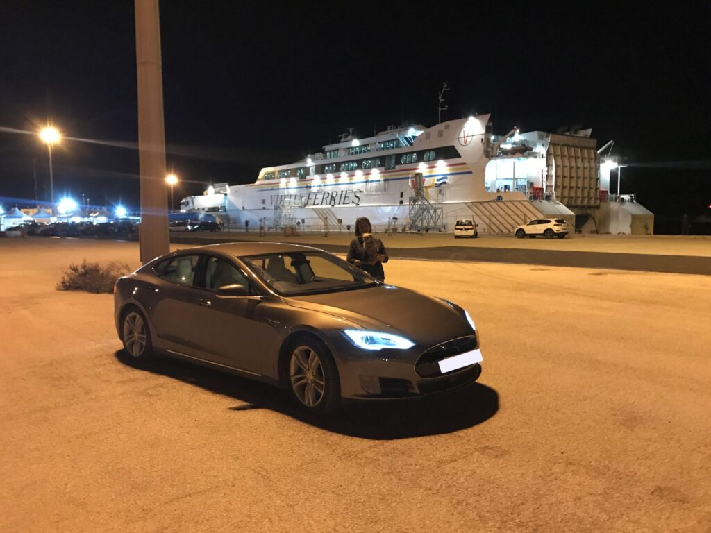 Tesla Model S 90KW 2016, William - Living with an EV: Road trip report Maidstone to Malta ferry terminal