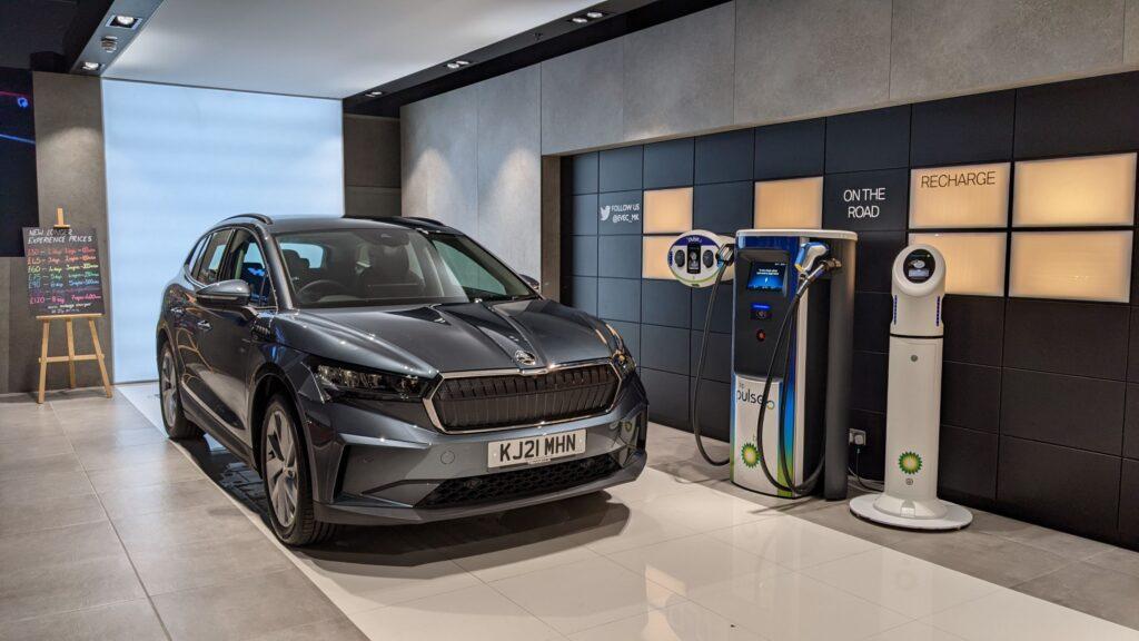 ŠKODA joins the EV Experience Centre in Milton Keynes with the award-winning ENYAQ IV