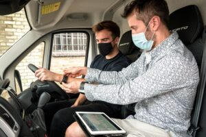 Drivers feel less stressed when driving an electric van!